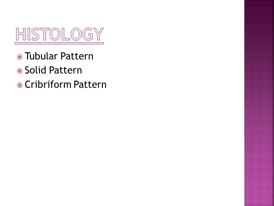Histology Tubular Pattern Solid Pattern Cribriform Pattern