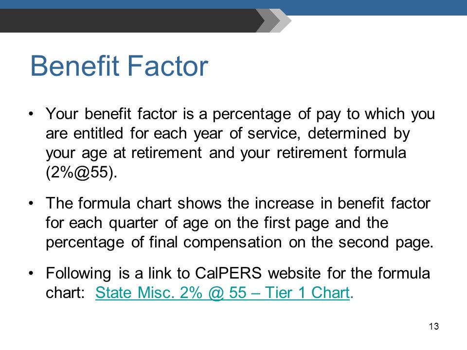 Benefit Factor