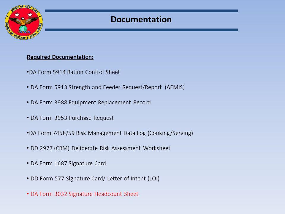 nyarng fy 15 food service management board ppt video online download rh slideplayer com DA Form 3032 PDF DA Form 3032 PDF