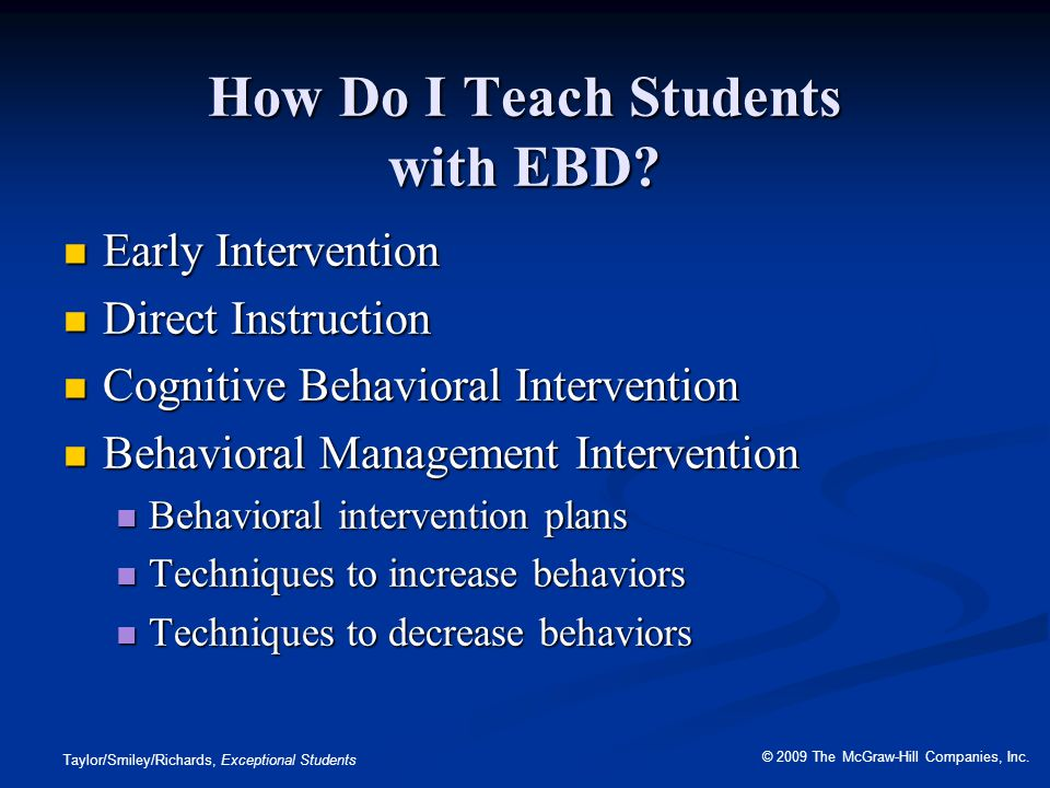 How Do I Teach Students with EBD