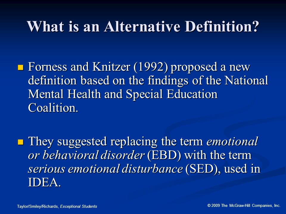 What is an Alternative Definition
