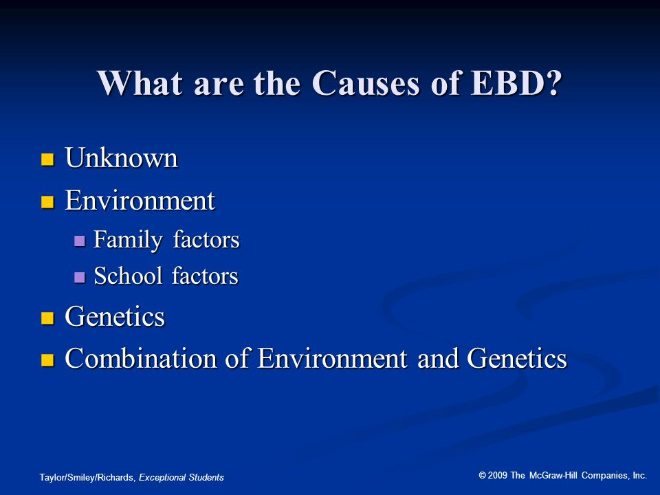 What are the Causes of EBD