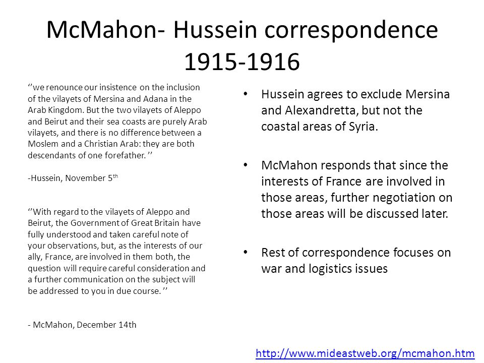 hussein mcmahon letters