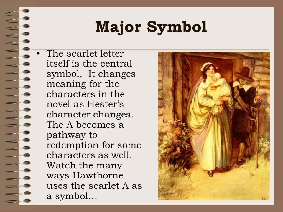 on the symbolism of the scarlet letter essay The scarlet letter in the scarlet letter, symbols appear everywhere hawthorne uses several different concrete objects to represent something of deeper meaning among these symbols is the scarlet letter a itself.