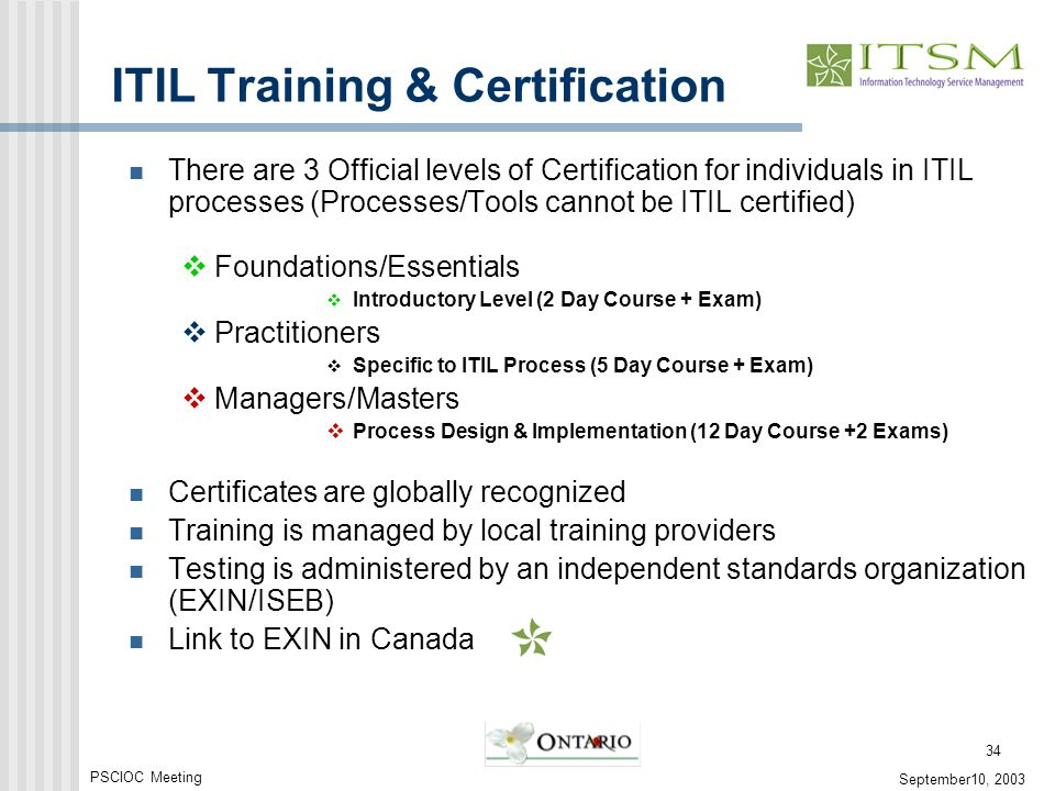 It Service Management The Ontario Experience Ppt Video Online
