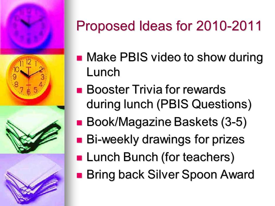 Cafeteria Incentive Programs and Ideas - ppt video online