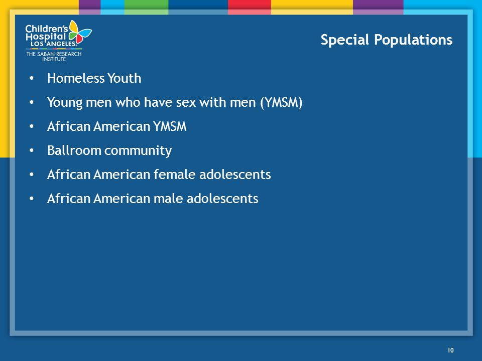 Special Populations Homeless Youth