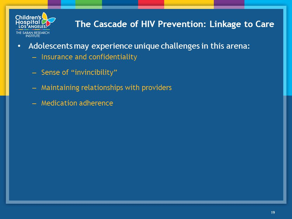 The Cascade of HIV Prevention: Linkage to Care