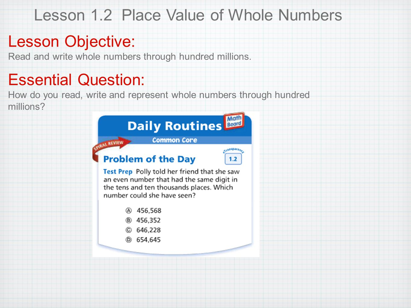 Place Value And Patterns Lesson 11 Amazing Inspiration