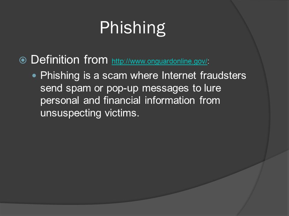 Phishing Definition from