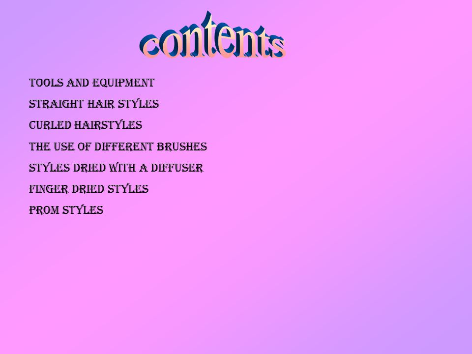 hairdressing services - ppt download