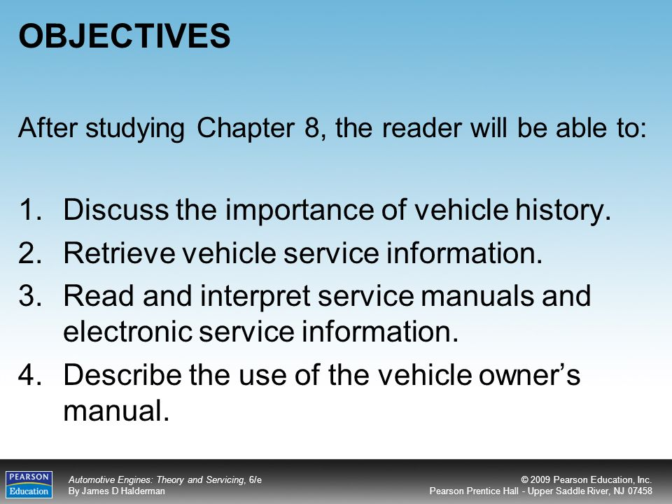 OBJECTIVES Discuss the importance of vehicle history  - ppt video