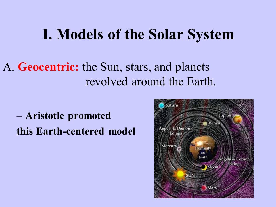 I. Models of the Solar System