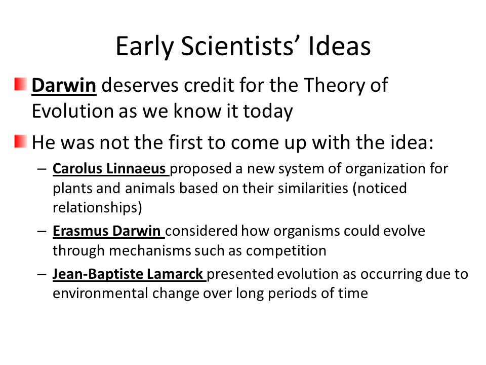 Early Scientists' Ideas
