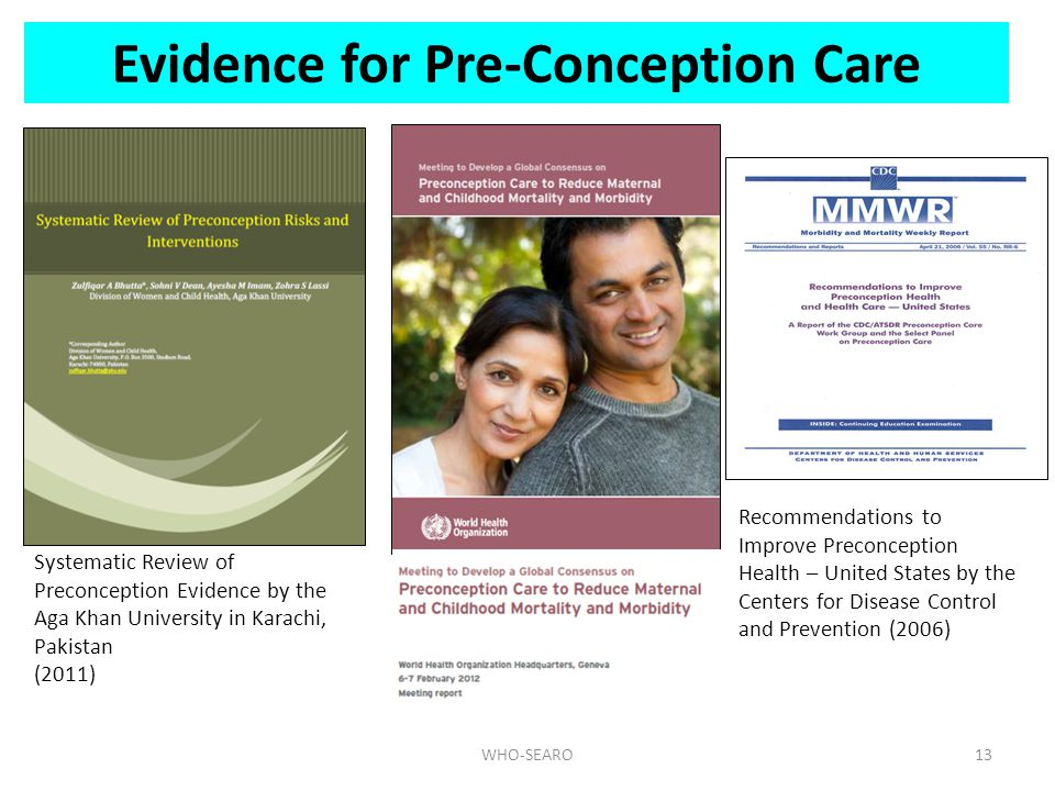 Evidence for Pre-Conception Care