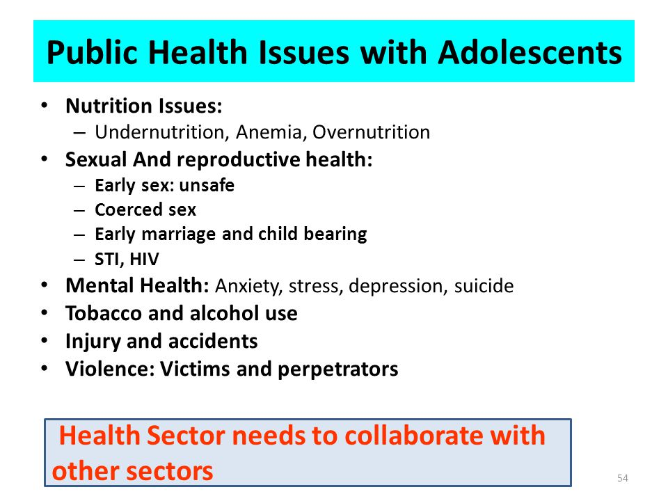 Public Health Issues with Adolescents