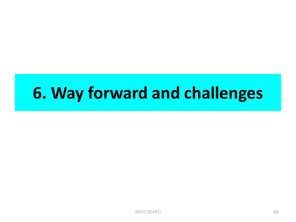 6. Way forward and challenges