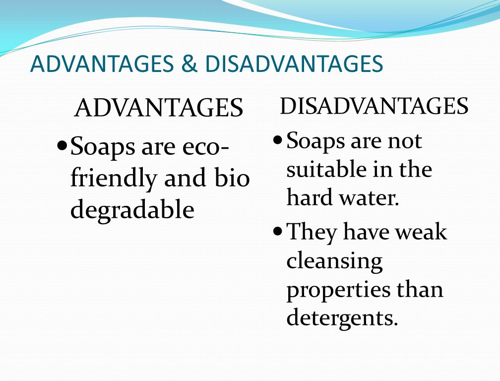 soft water advantages and disadvantages