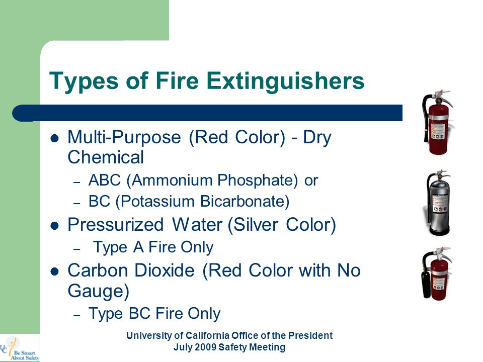 Use of portable fire extinguishers ppt video online download 4 types of fire extinguishers thecheapjerseys Images