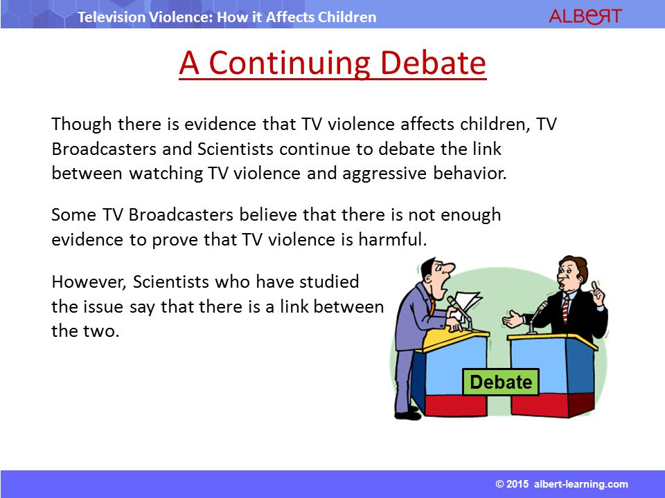 media violence and how it affects our conscience The benefits of doing so are healthier, happier, more successful children, adolescents and young adults craig a anderson is distinguished professor, department of psychology, and director of the center for the study of violence, iowa state university, ames, iowa.