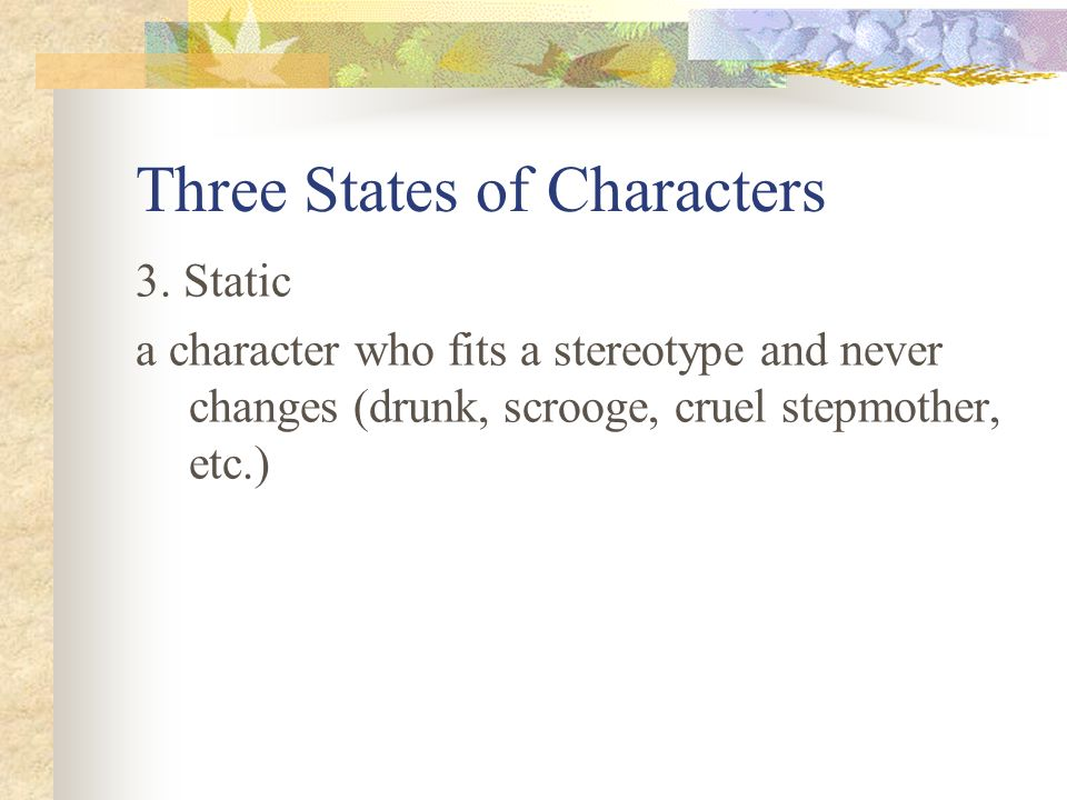 Three States of Characters