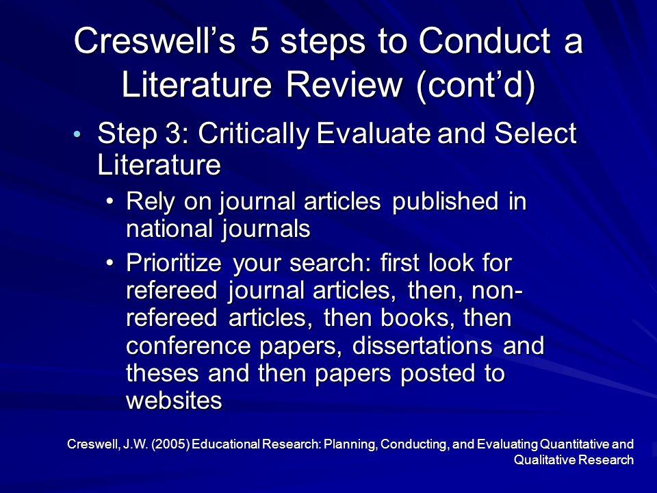 create an article review critique