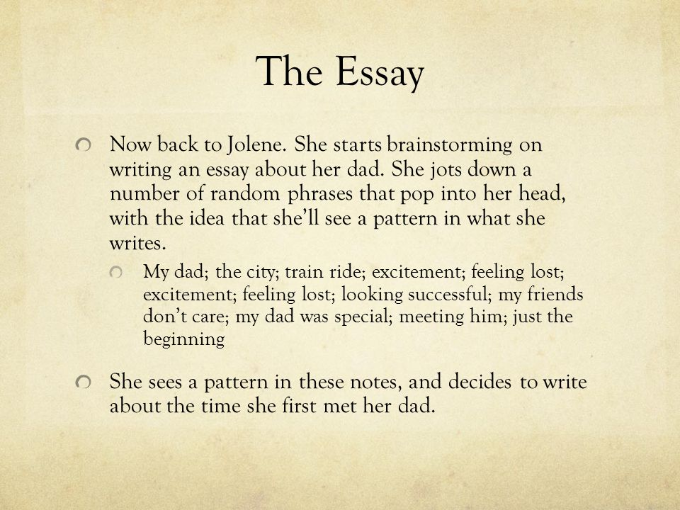 and it all comes down to this the essay   ppt download the essay