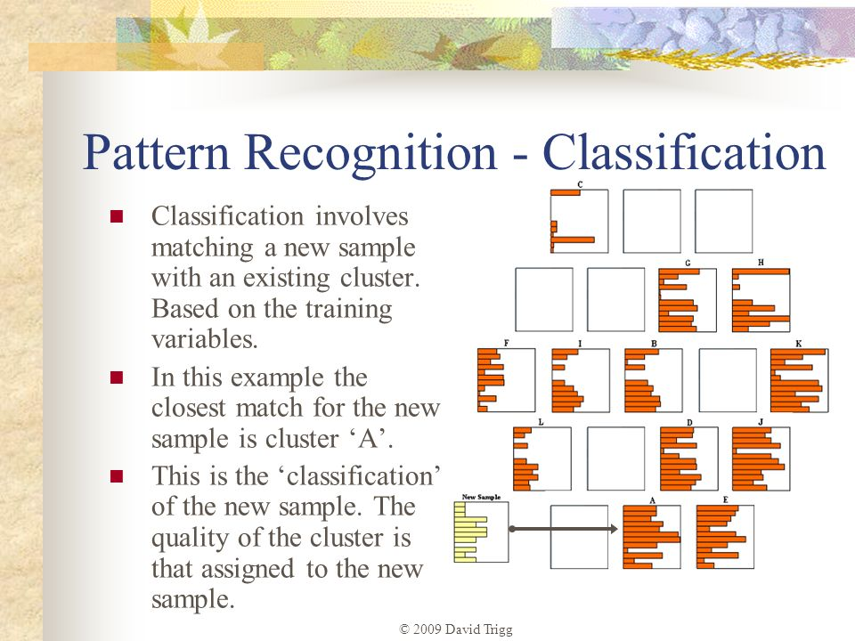 Pattern Recognition - Classification