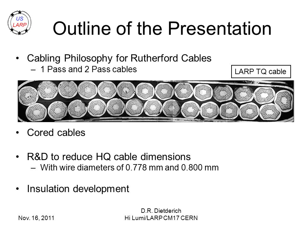 Nb3sn cable and insulation for larp high gradient quadrupole magnets 2 outline of the presentation greentooth Gallery