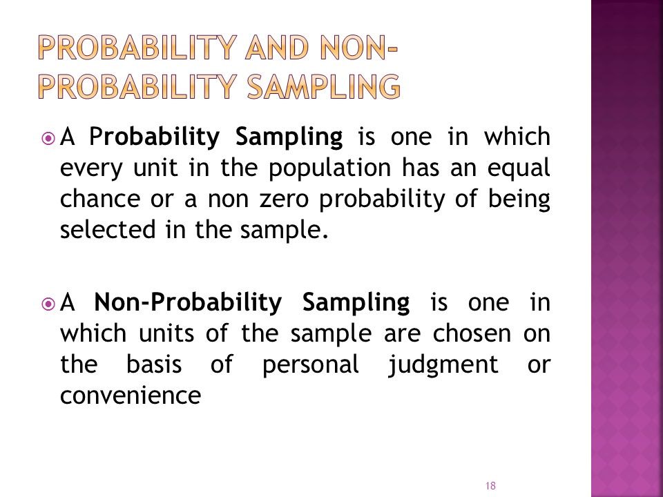 Probability and Non-Probability Sampling