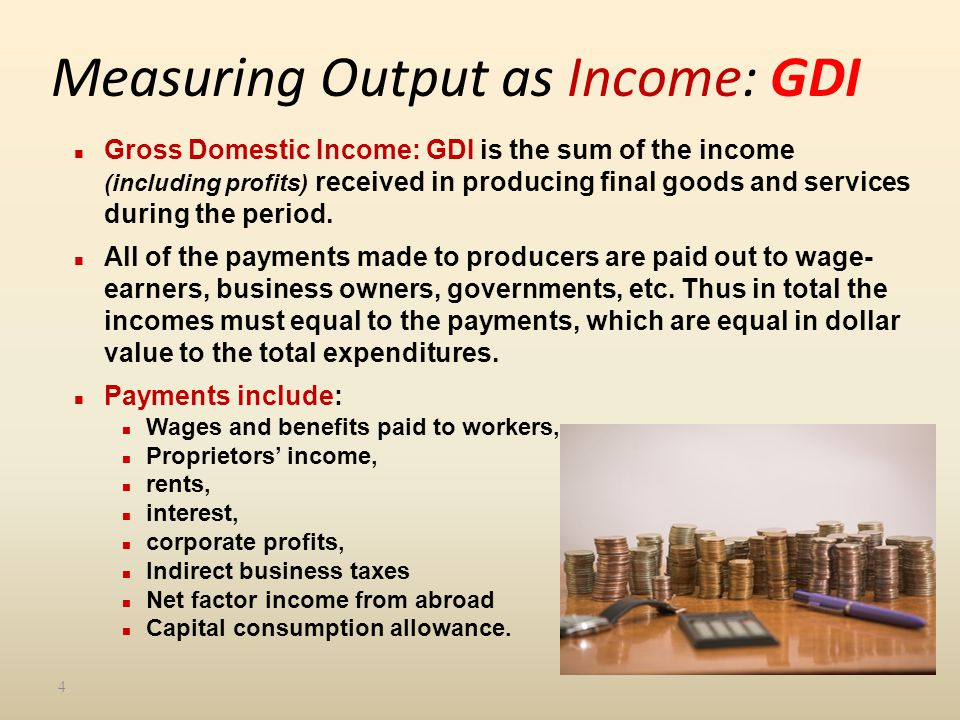 Measuring Output as Income: GDI