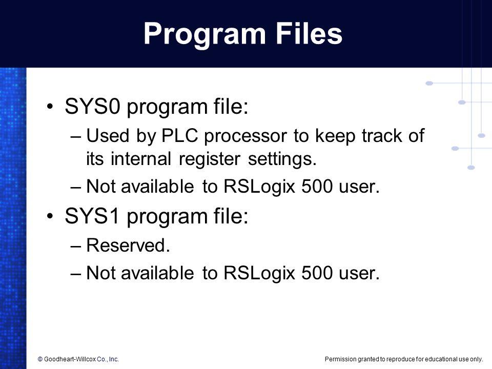 6 PLC Programming  6 PLC Programming Objectives List the