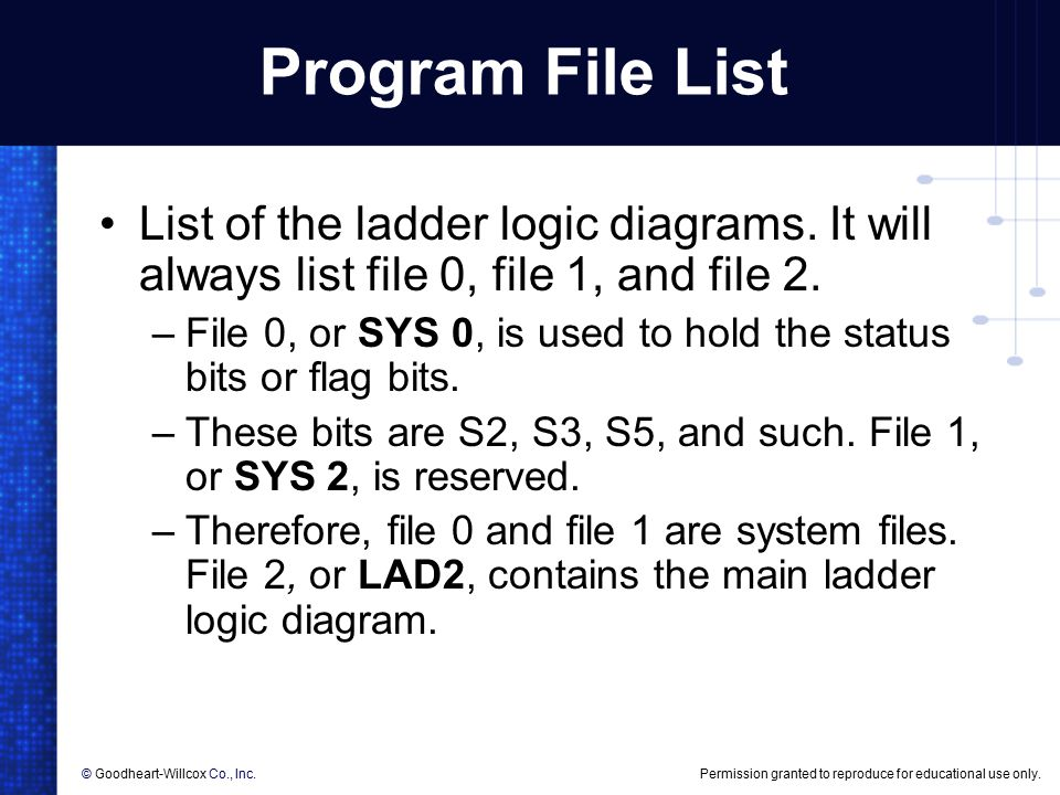 Ladder diagram of 504 diy wiring diagrams 6 plc programming 6 plc programming objectives list the rules for rh slideplayer com hvac ladder diagrams ladder diagram examples ccuart Images
