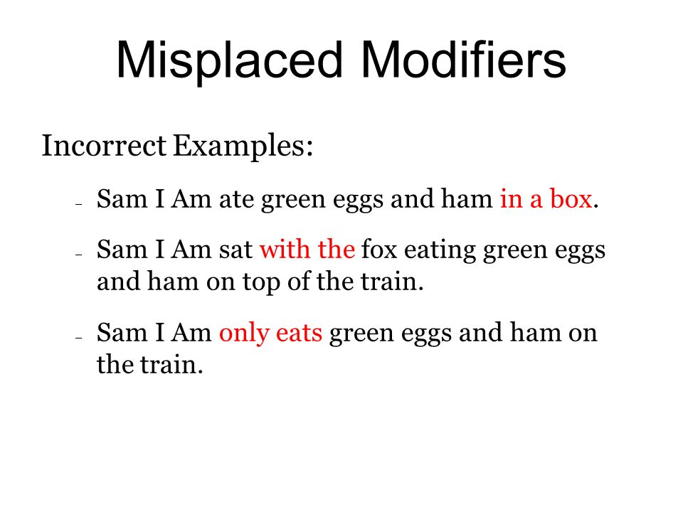 what is a dangling modifier example
