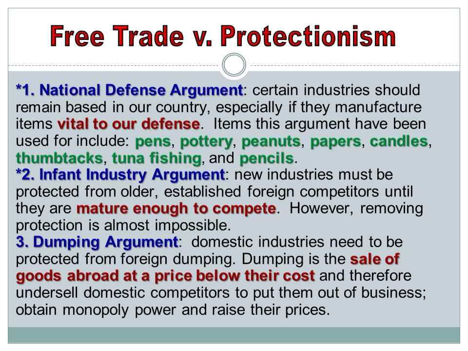 Free Trade v. Protectionism