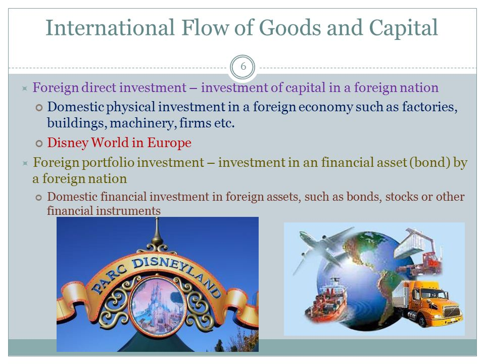 International Flow of Goods and Capital