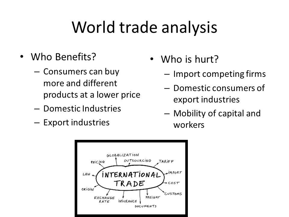 World trade analysis Who Benefits Who is hurt
