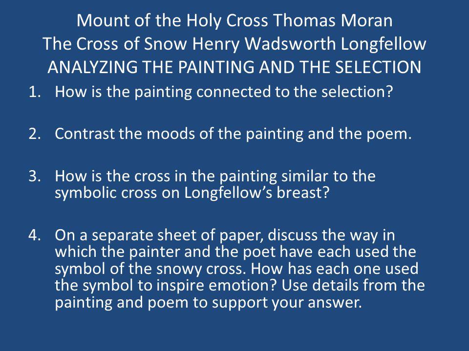 the cross of snow poem