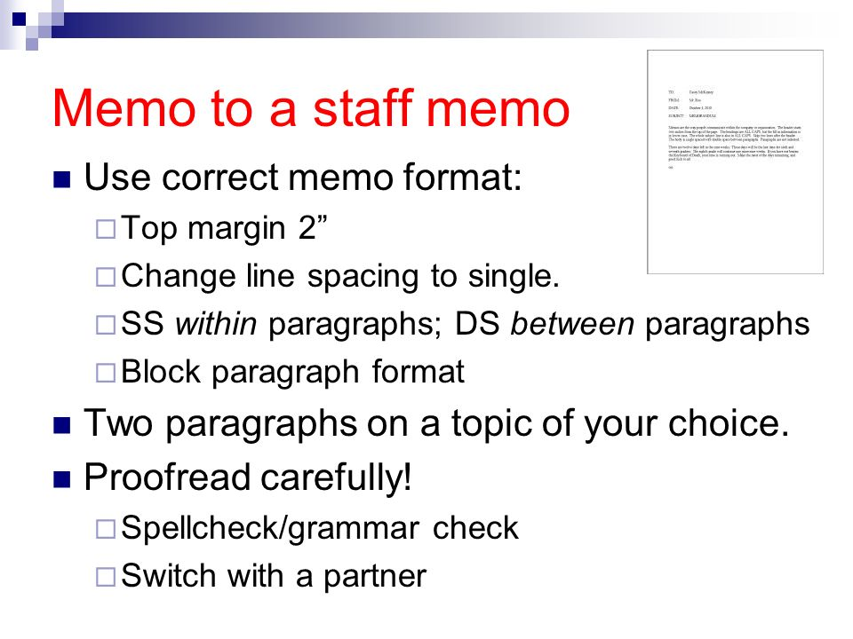 Memorandums and Letters - ppt video online download