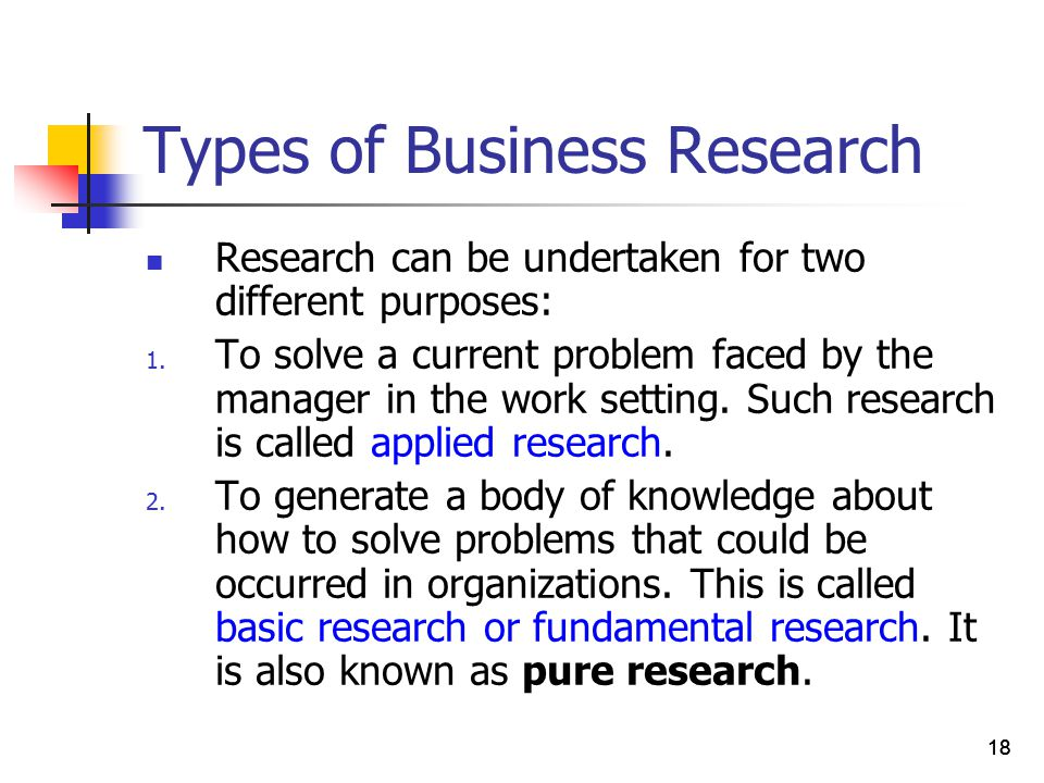 different types of business research The meaning of business research design: business research can be defined as the plan and structure of enquiry, formulated in order to obtain answers to research questions on business aspects documents similar to different types of research design skip carousel.