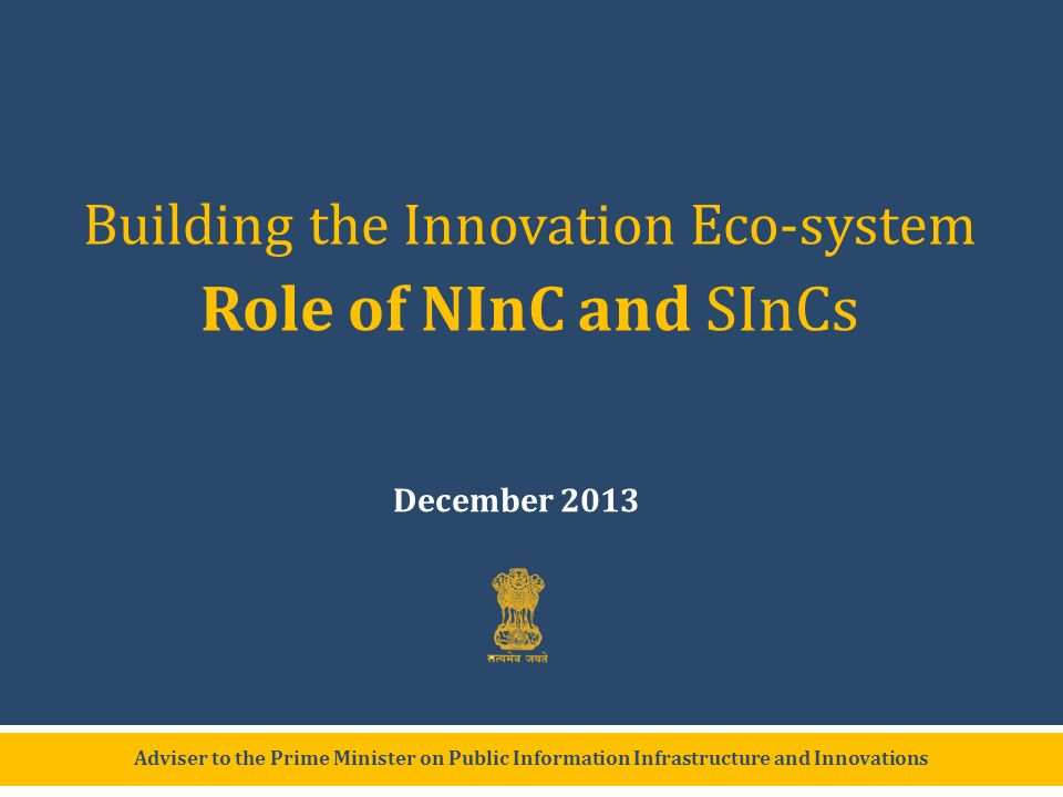 Building the Innovation Eco-system