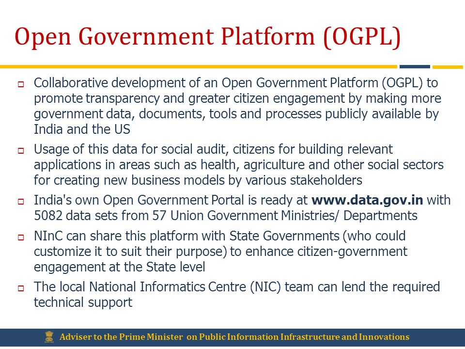 Open Government Platform (OGPL)