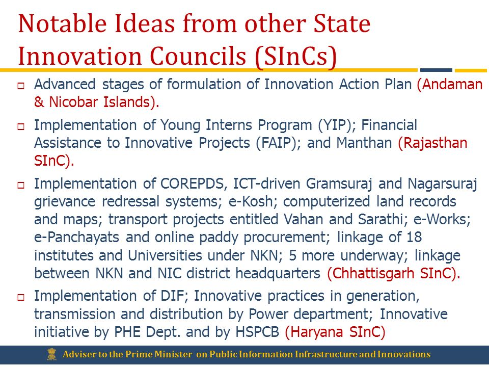Notable Ideas from other State Innovation Councils (SInCs)