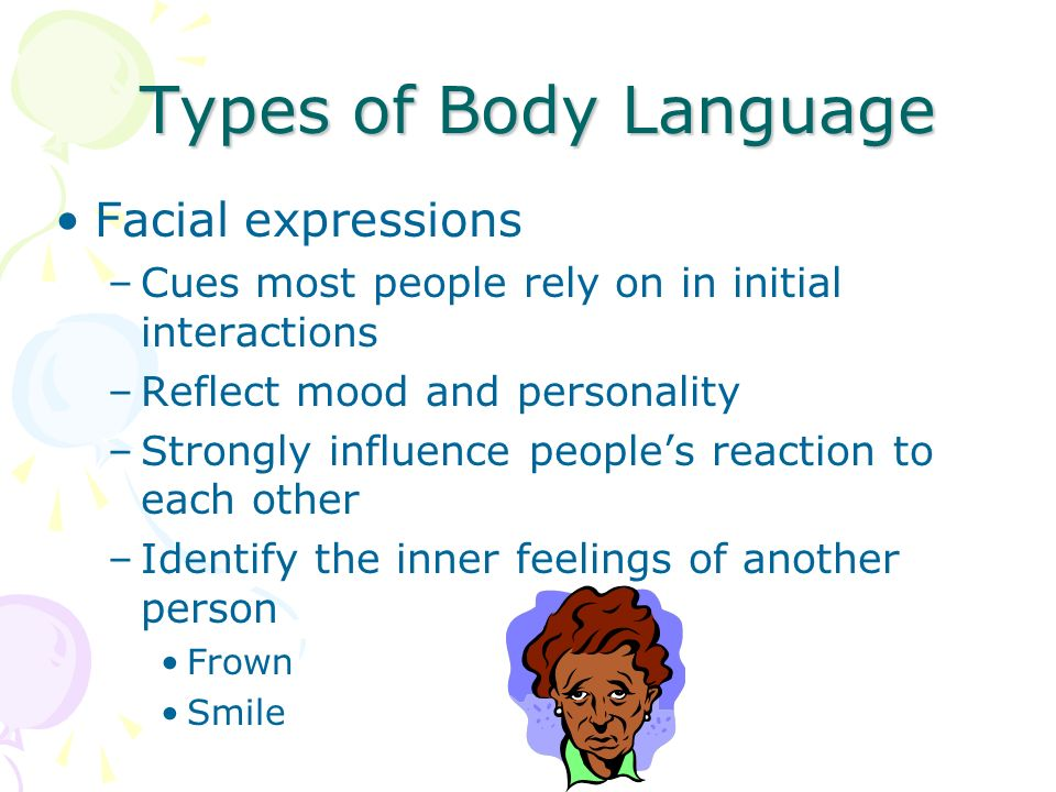 Types of Body Language Facial expressions