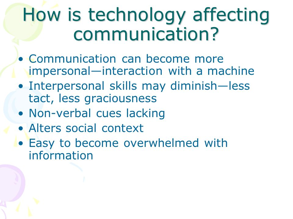 How is technology affecting communication