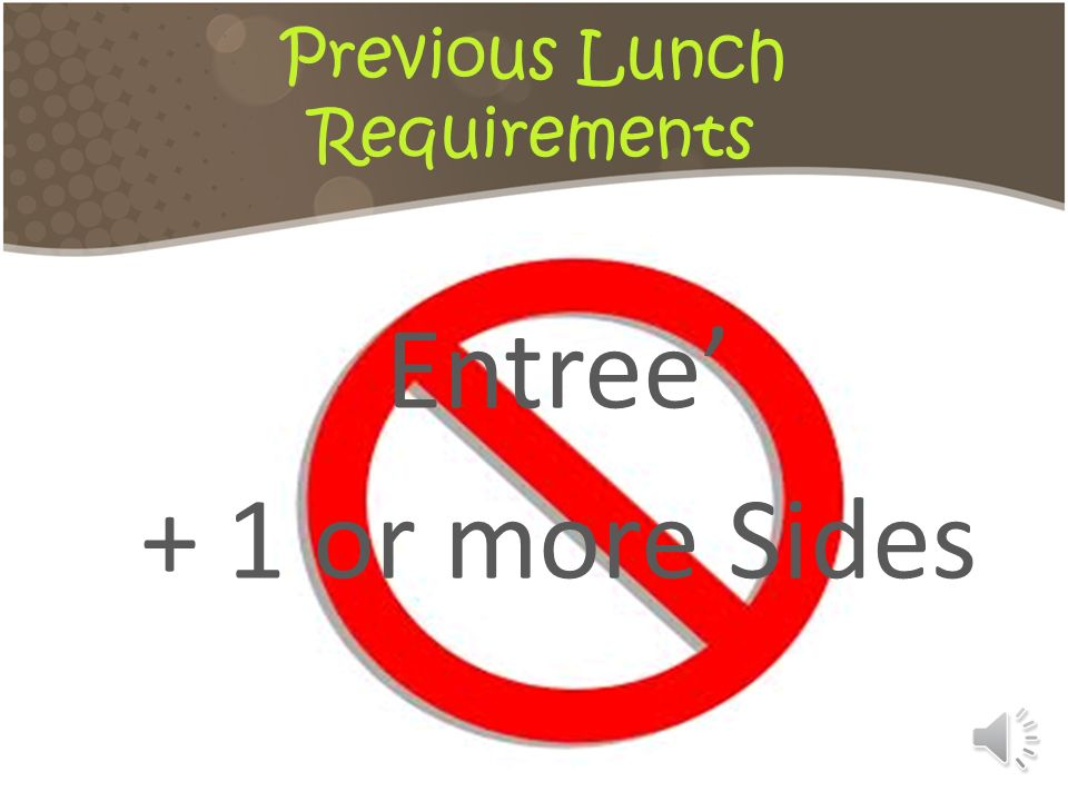 Previous Lunch Requirements