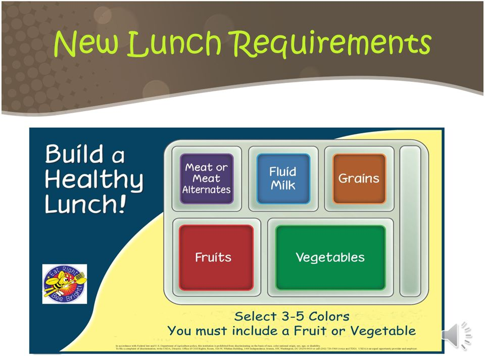 New Lunch Requirements