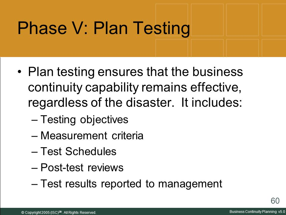 Business Continuity Planning Ppt Download - Business continuity plan testing templates
