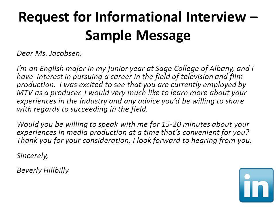 request an informational interview