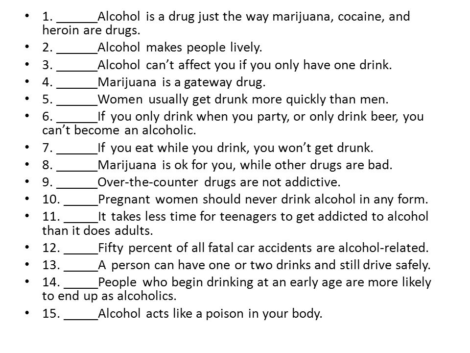 Intro: Drugs and Alcohol - ppt download
